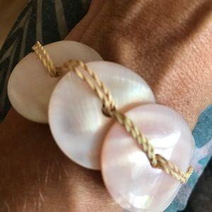 Shell and Coconut Fiber Bracelet